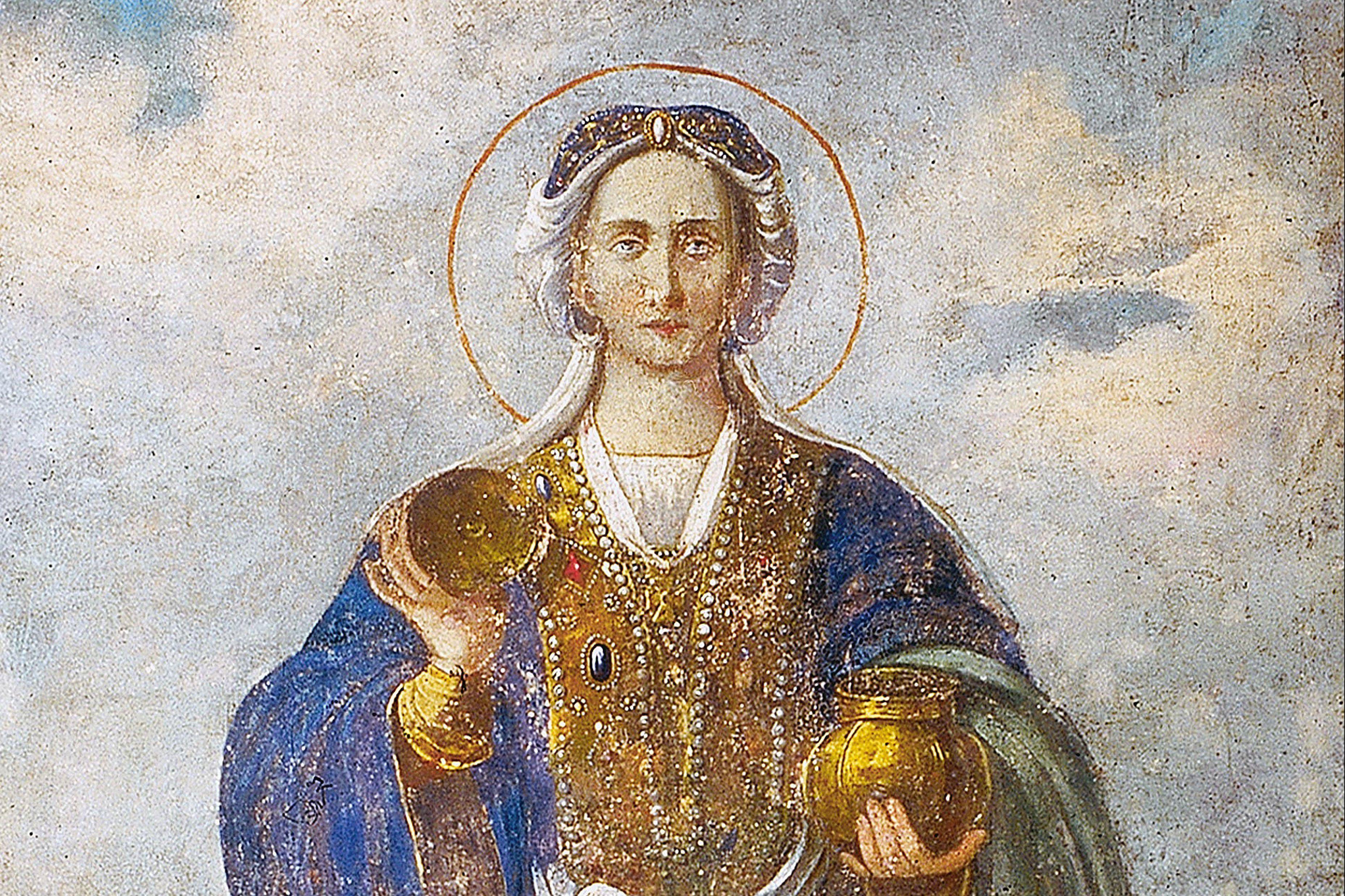 Saint Olga, Princess of Kiev (ancient fresco)