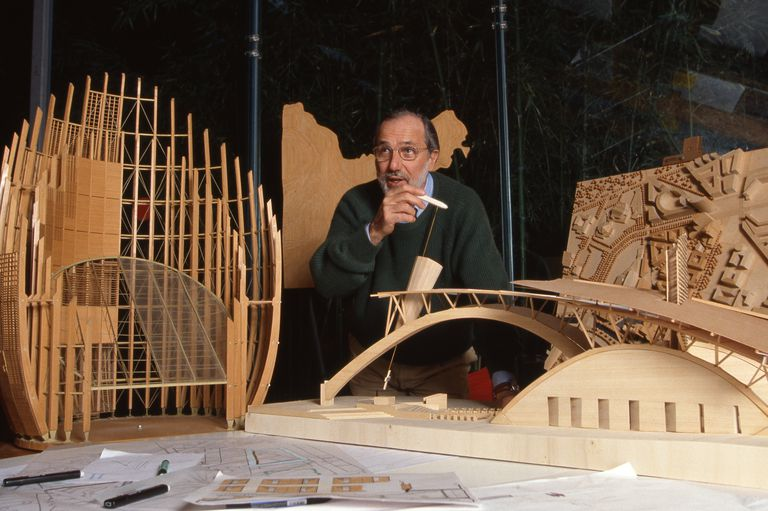 Italian Architect Renzo Piano in his Punta Nave workshop