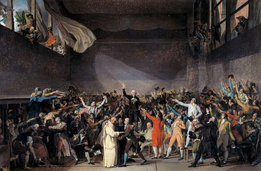The Tennis Court Oath (Jeu de paume Oath), 20th June 1789