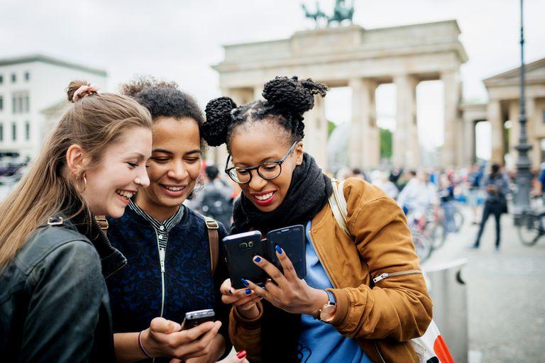 Group Of Friends Exploring Berlin