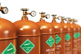 row of helium tanks