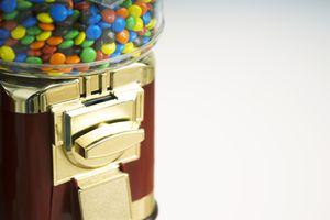 Candy Dispenser Full of M&Ms