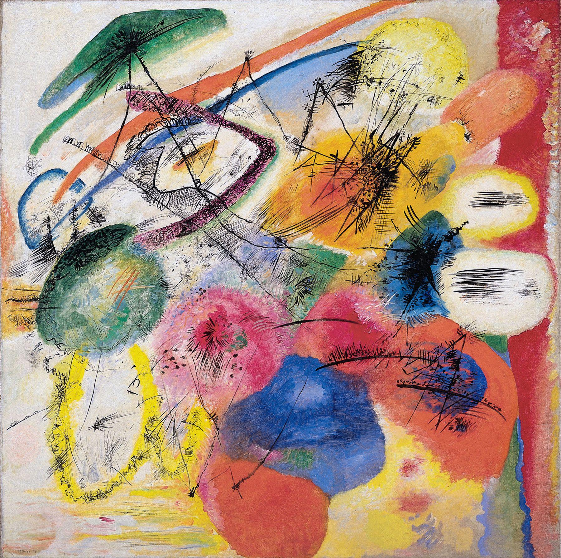 Wassily Kandinsky (Russian, 1866-1944) Wassily Kandinsky (Russian, 1866-1944). Black Lines (Schwarze Striche), December 1913. Oil on canvas. 51 x 51 5/8 in. (129.4 x 131.1 cm). Solomon R. Guggenheim Founding Collection, By gift 37.241. Solomon R. Guggenheim Museum, New York.