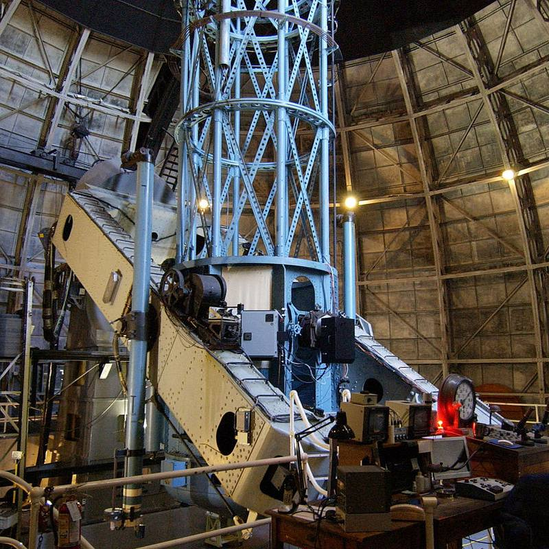 The 100-inch Hooker telescope, once the largest in the world. It is still in use today.