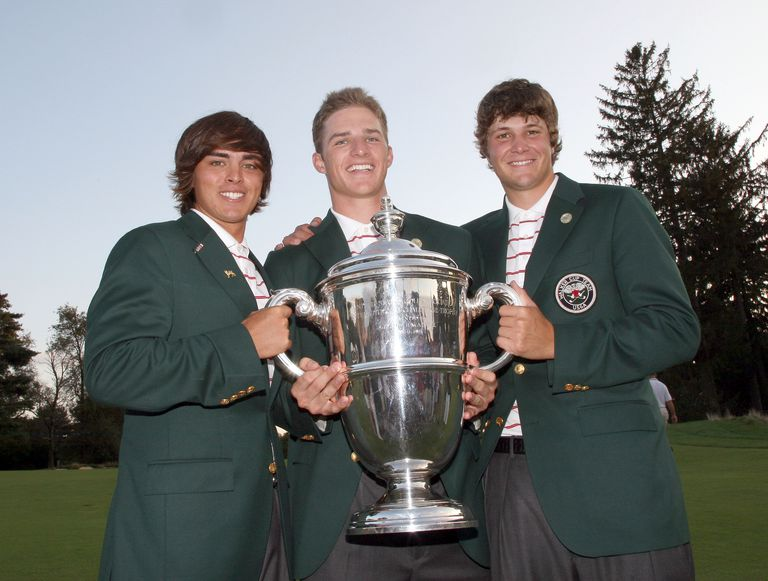 Rickie Fowler, Morgan Hoffman and Peter Uihlein at 2009 Walker Cup
