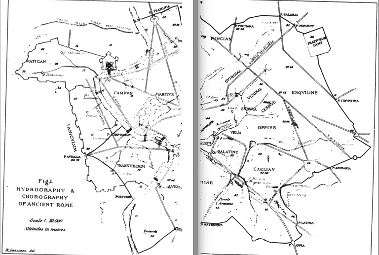 Map of the Hydrography and Chorography of Ancient Rome