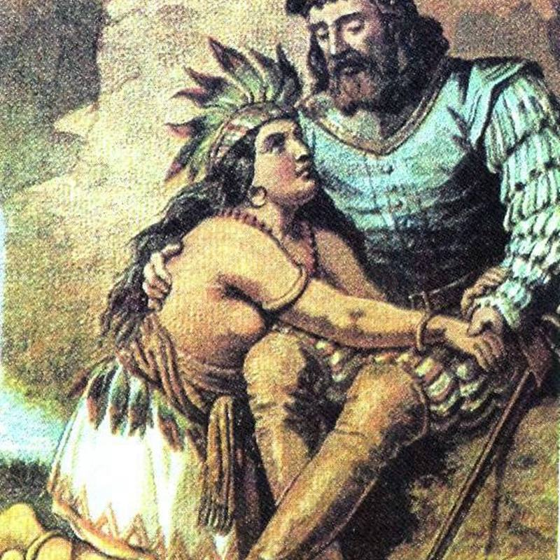 Cortes and Malinche