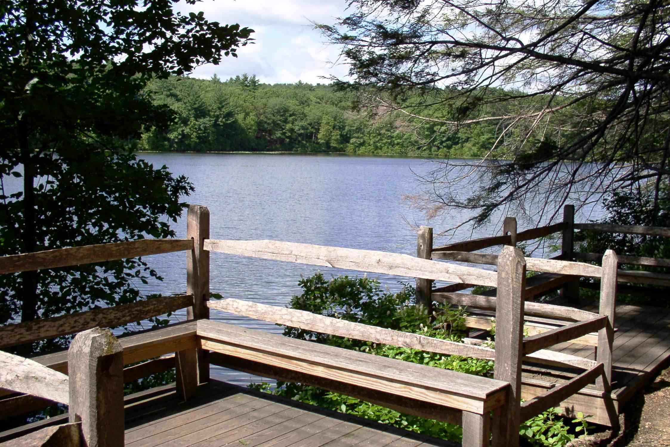 Lake Waban from the Wellesley Campus