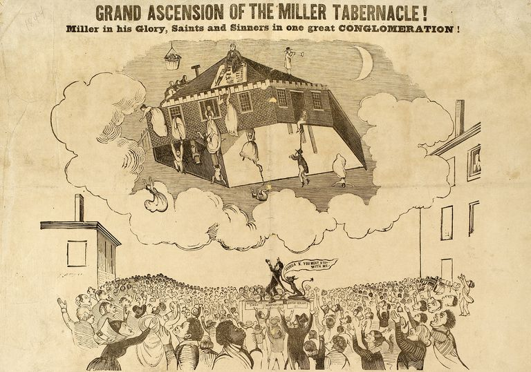 Illustration depicting ascension of Miller Tabernacle