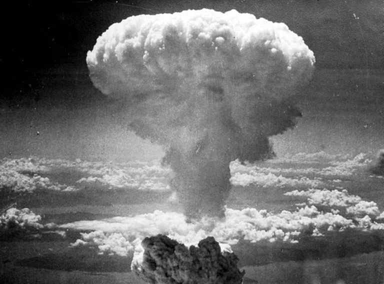 Fat Man detonates over Nagasaki, Japan, August 9, 1945