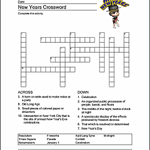print the pdf new years crossword puzzle
