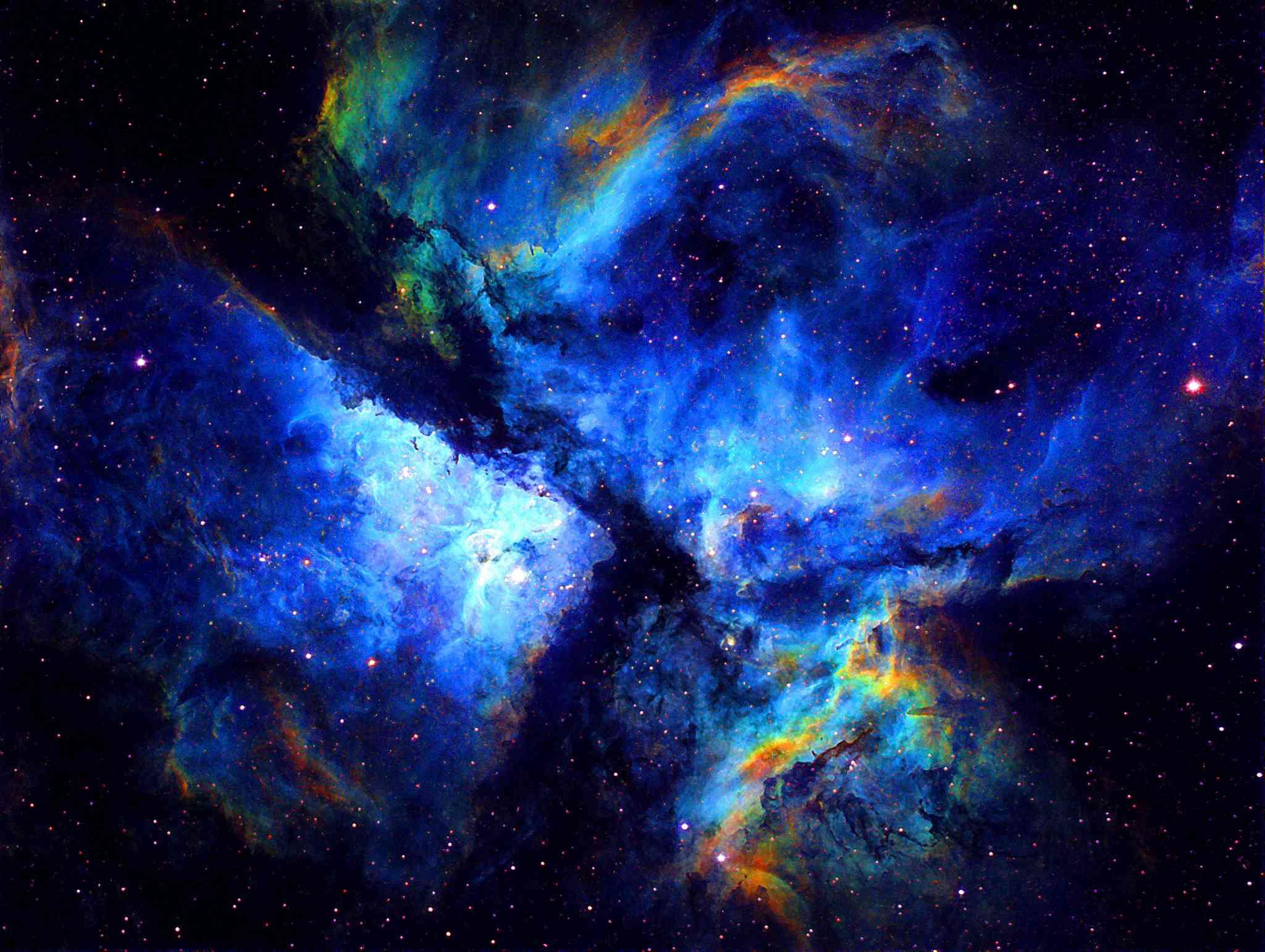 Oxygen in the Carina nebula.
