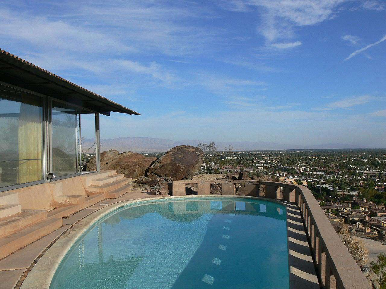 Magnificient Views at the Frey House II by architect Albert Frey