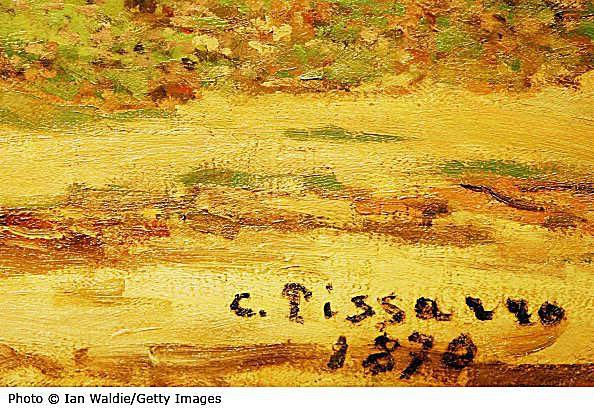 Signature of Famous Impressionist Artist Camille Pissarro