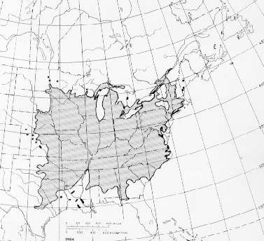 Range of Slippery Elm