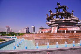 Horse fountain, Ashgabat