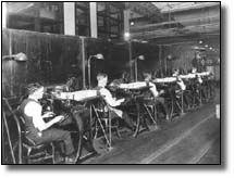 Gehring Mail Distributing Machine test in Washington, DC, Post Office 1922