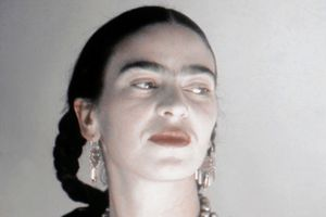 Frida Kahlo, shown about 1940