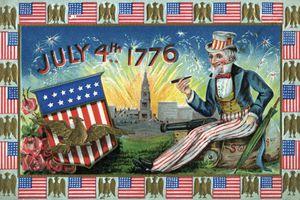 Vintage illustration of Uncle Sam