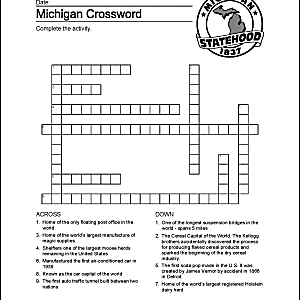 Michigan Wordsearch, Crossword Puzzle, and More