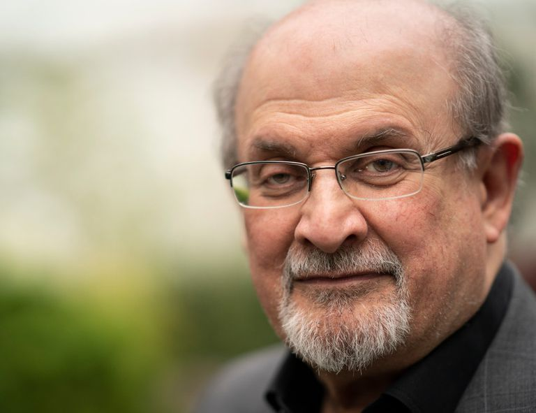 Salman Rushdie at the Cheltenham Literature Festival 2019