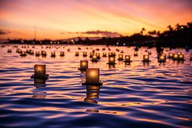 Japanese Floating Lanterns