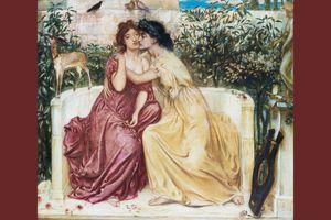 Sappho and Erinna in the Garden Mytelene by Simeon Solomon
