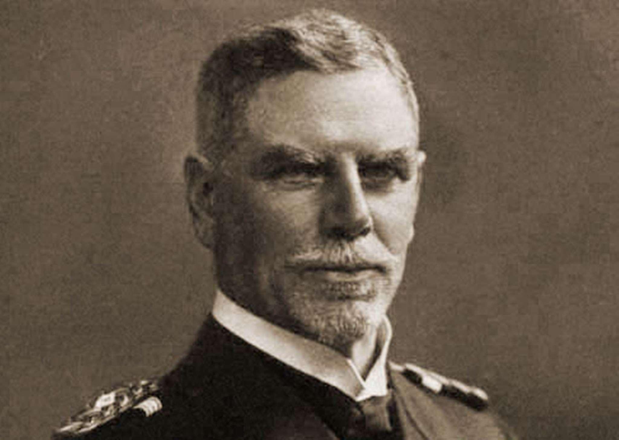 Portrait of Vice Admiral Maximilian von Spee wearing his naval uniform.