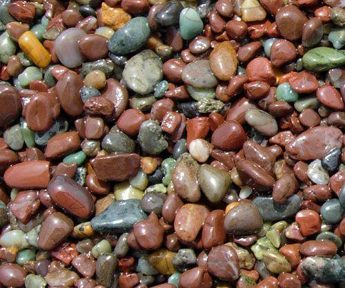Jasper rocks of multiple colors.