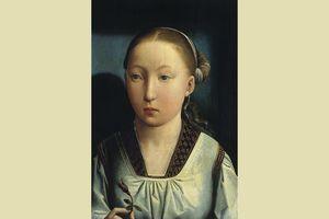 Catherine of Aragon, c. 1496, portrait by Juan de Flandes