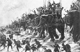 Fighting at the Battle of Zama
