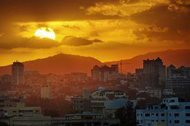 Sunset over Santo Domingo