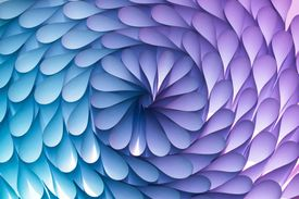 Abstract Paper Flower Pattern