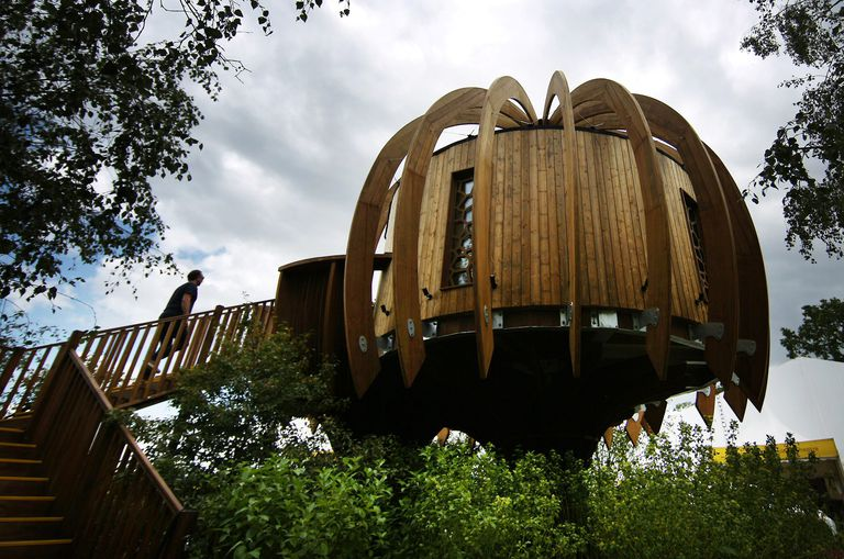 The Quiet Mark Treehouse at Hampton Court Palace in London, England