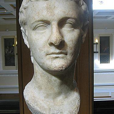 Bust of Caligula from the Getty Villa Museum in Malibu, California.