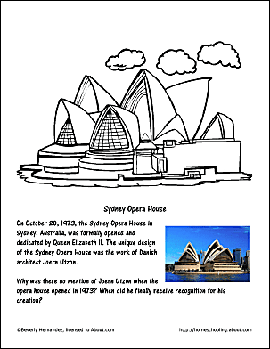 Sydney Opera House Coloring Page