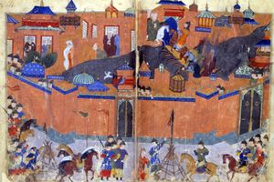 Depiction of the siege of Baghdad