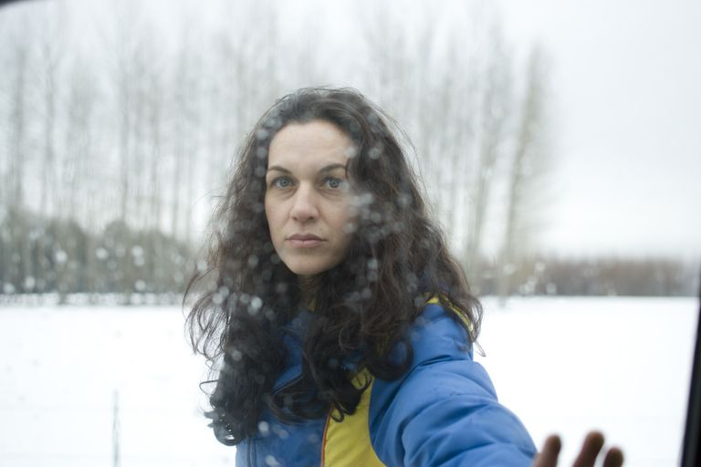 Woman on Overcast Winter Day