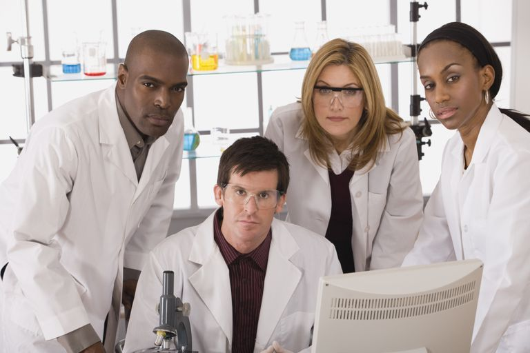 Lab partners are the norm in the workplace as well as in science classes.