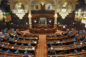 Senate chambers, State Capitol Building, Springfield, Illinois