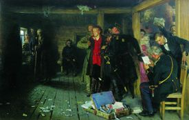 painting of an arrest of a propagandist in populist Russia
