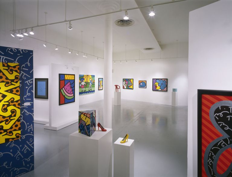 Art by Romero Britto on Display in Gallery