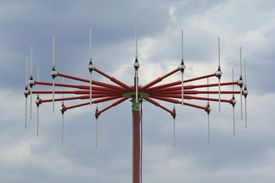 Close up of a direction finder antenna