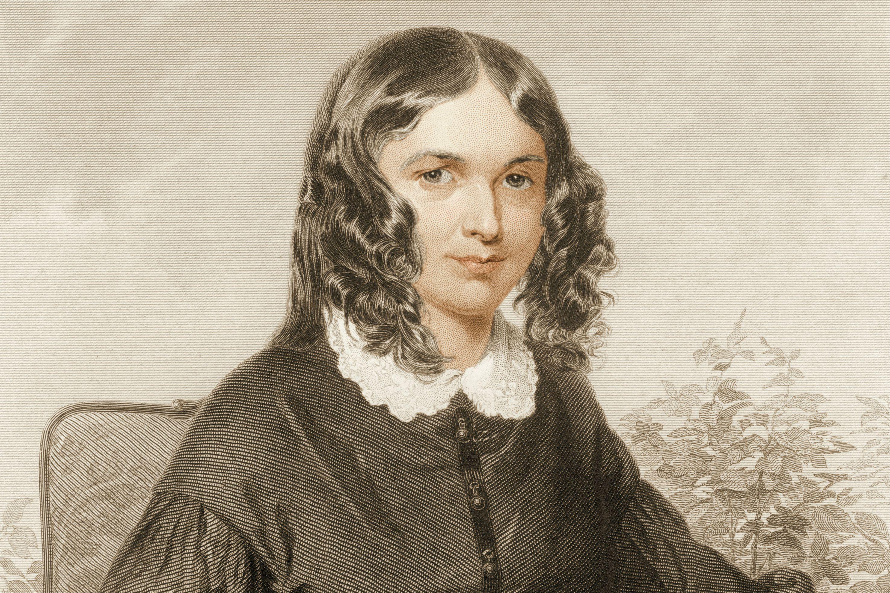 Portrait Of Elizabeth Barrett Browning