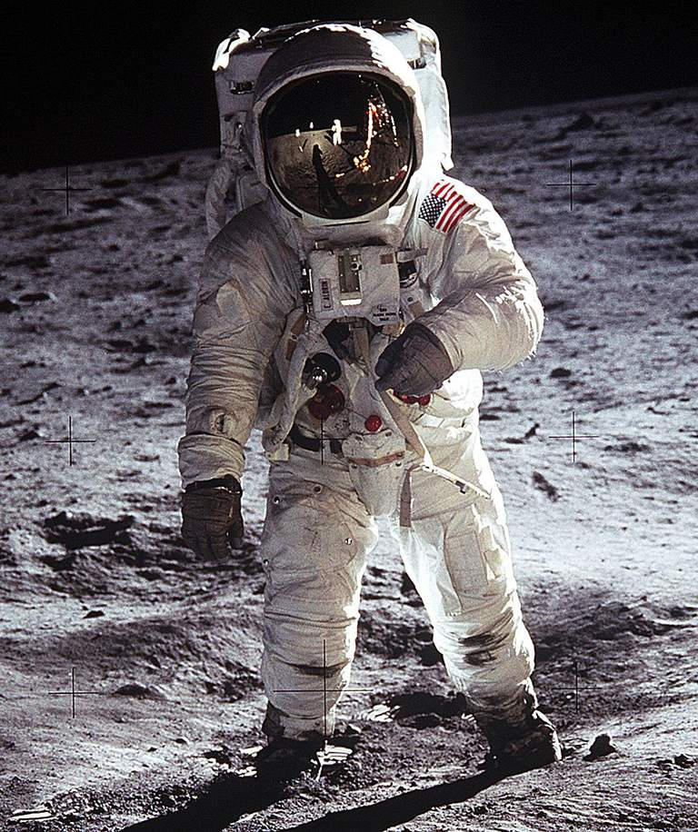 Astronaut Edwin Aldrin on Lunar Surface