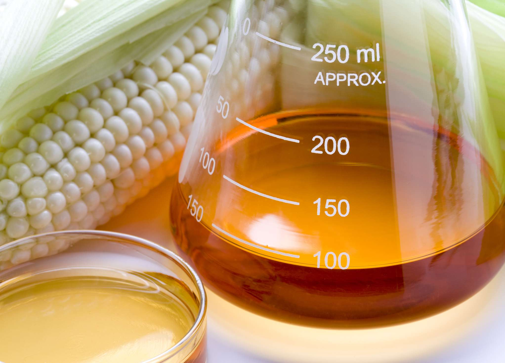 Corn Syrup and lab equipment