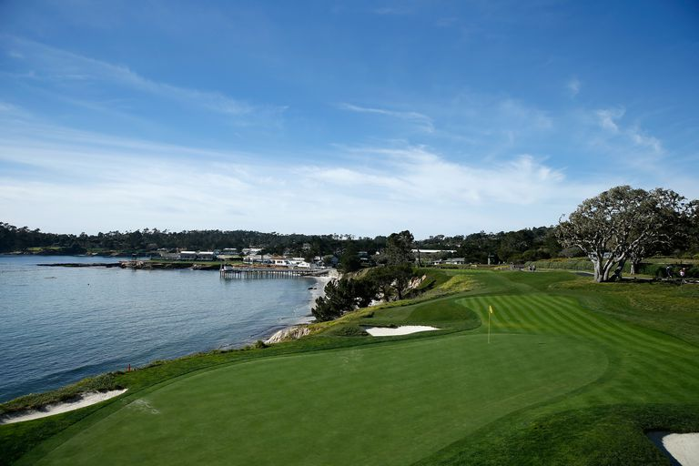 A general view of the No. 5 hole at Pebble Beach Golf Links.