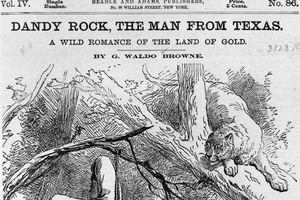 Cover of a 19th century dime novel published by Beadle and Adams
