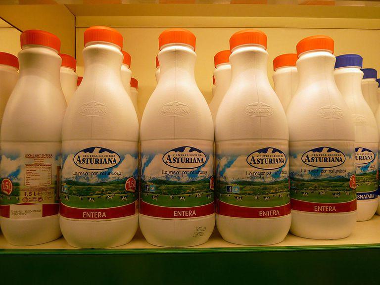 milk bottle leche