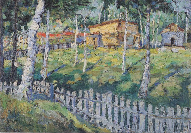 kazimir malevich house in a garden